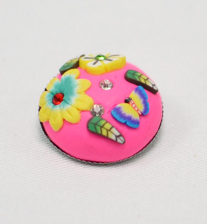 κουμπί από πολυμερικό πυλό πολύχρωμο
