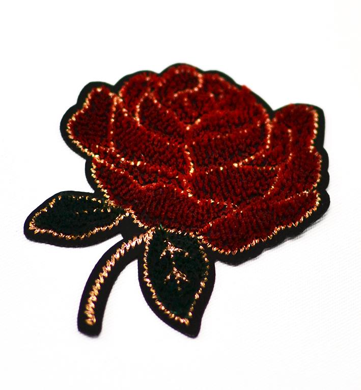 μοτίφ υφασμάτινο τριαντάφυλλο κόκκινο