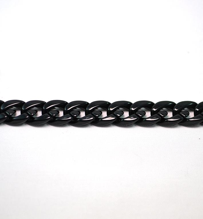 αλυσιδα ακρυλικη μαυρη